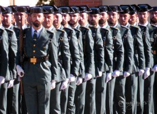 Nueva promoción de guardias civiles que hoy han jurado bandera en Baeza.
