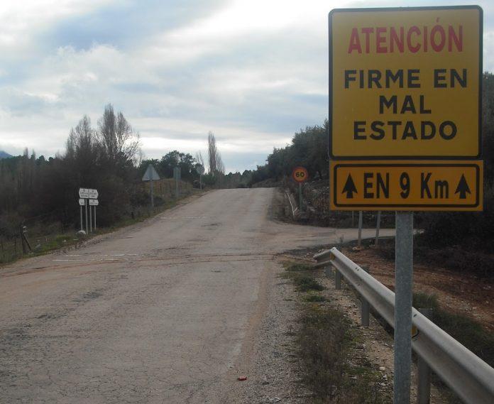 Carretera A-317 entre El Aguadero y Cortijos Nuevos. Foto: Bernd Maier
