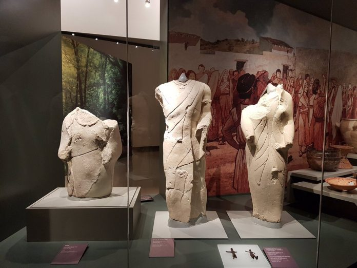 Varias de las esculturas que se pueden contemplar en el museo Íbero de Jaén.