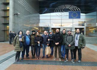 Imagen de miembros de la Plataforma en Bruselas.