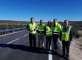 Inauguración ayer de la carretera tras las mejoras realizadas.