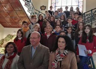 Pleno infantil en el ayuntamiento de Jaén donde han participado escolares.