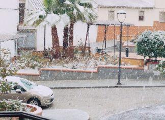 Nevando en Alcaudete. FOTO: Lean Barranco