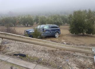 Estado en el que ha quedado el vehículo. FOTO: Policía Local de Andújar