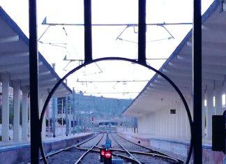 Vía del tren desde la estación de Jaén. FOTO: Antonio Julián