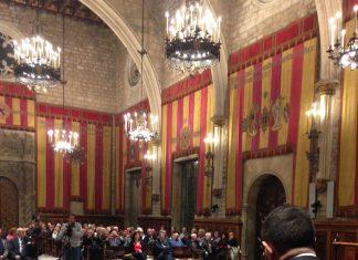 Francisco Reyes en su conferencia en el ayuntamiento de Barcelona.