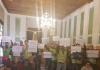 Policías Locales de Bailén se manifiestan en el pleno del ayuntamiento.