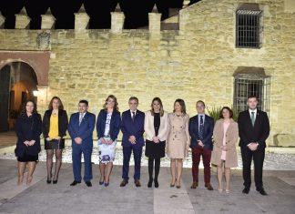 La presidenta de la Junta de Andalucía, Susana Díaz, en la inauguración de la titularidad municipal de la Casa Palacio de Mengíbar.