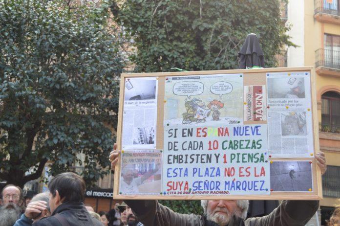 Ya se han realizado varias protestas por la reforma de la plaza.