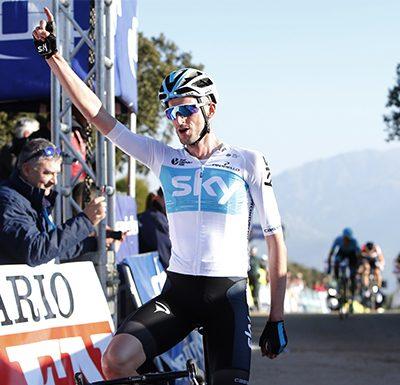 Poels entra en línea de meta en primera posición. FOTO: Vuelta a Andalucía