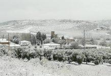 Nieve en Villanueva del Arzobispo. FOTO: Santi Pinel