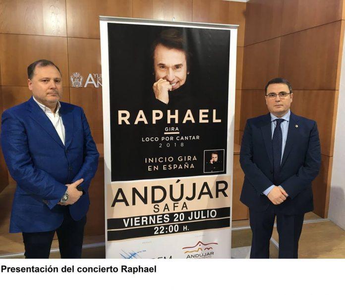 Presentación del concierto de Raphael en Andújar.