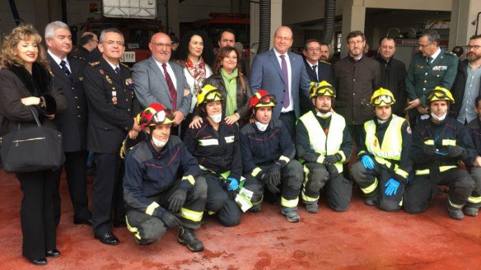 Acto del Día del Patrón de los Bomberos en Jaén.