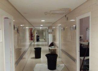 Imagen de una de las plantas del hospital de Linares.