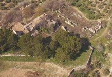 Fotografía aérea del estado de los tejados en Otíñar.