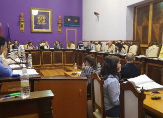 Imagen del pleno celebrado esta mañana en el Ayuntamiento de Jaén.