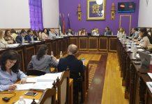 Pleno del ayuntamiento que ha aprobado la moción de Jaén en Común para regular la música en directo en bares y locales de la ciudad.