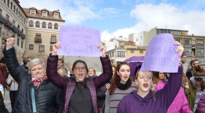 Manifestación el pasado mes de marzo en la plaza de Santa María. FOTO: HoraJaén