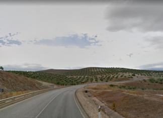 Carretera A-311 entre Jaén y Andújar.
