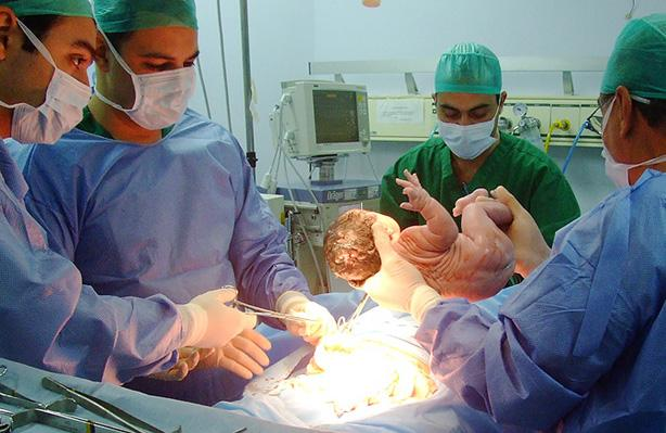 Parto en el hospital de Jaén.