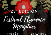 Cartel anunciador del Festival de Flamenco.
