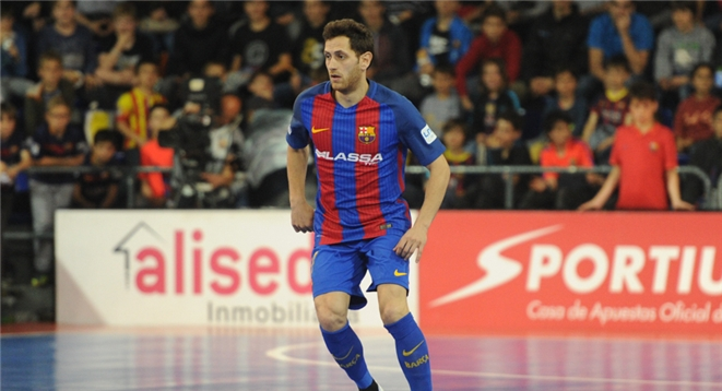 Rafa López, jugador procedente del FC Barcelona. FOTO: LNFS