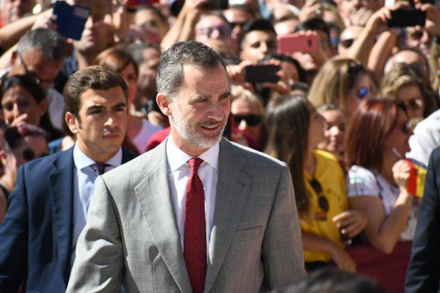 El Rey de España en su última visita a Bailén. FOTO: HoraJaén