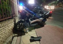Estado en el que ha quedado una de las motos implicadas en el accidente. FOTO: HoraJaén