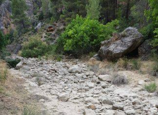 Río Zumeta desecado.