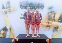 Las tres gimnastas están incluidas en la lista de rendimiento deportivo de Andalucía. FOTO: Club Baruca