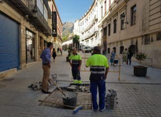 Actuación de mejora en Plaza Santa María.