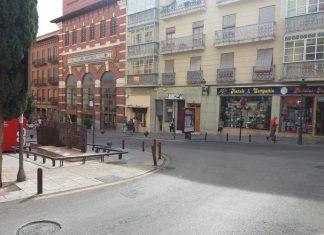 Plaza de la Audiencia de Jaén donde se ha producido el robo.