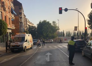 Lugar del atropello de esta mañana. FOTO: Policía Local de Jaén
