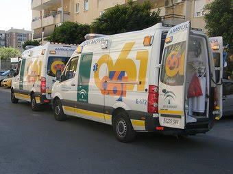 Imagen de una ambulancia de Jaén.