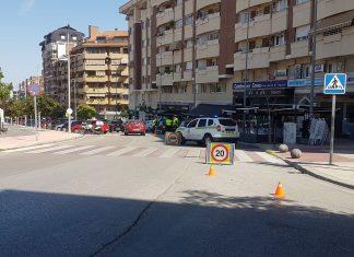 Control de la Policía Local en Paseo de España. FOTO: HoraJaén