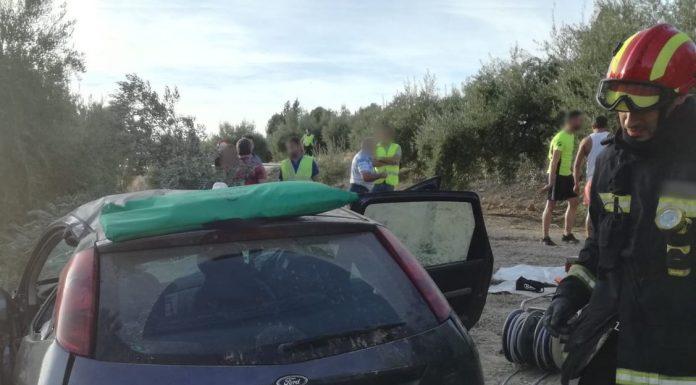Accidente donde ha fallecido un hombre. FOTO: Bomberos de Jaén