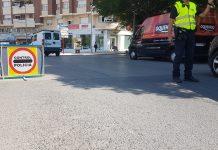 Control de la Policía Local esta mañana en Paseo de España. FOTO: HoraJaén