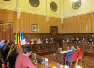 Pleno de Diputación donde se ha aprobado la inversión de diez millones de euros para el Olivo Arena.