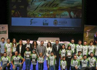 Gala del ciclismo jiennense en 2018.