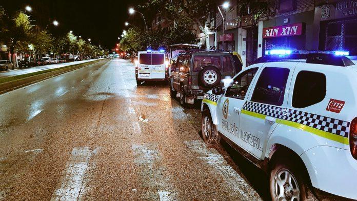 Vehículo interceptado por la Policía Local de Jaén.