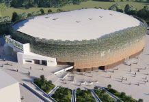 Imagen exterior de cómo será el Olivo Arena.