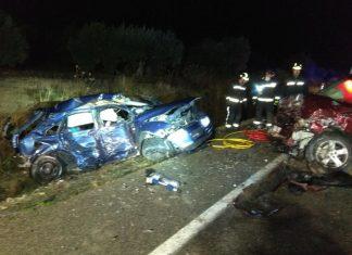 Accidente en la A-401 de de Úbeda a Jódar donde fallecieron cuatro jóvenes.