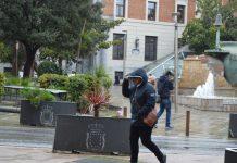 Mucho viento y lluvia hoy en Jaén. FOTO: HoraJaén