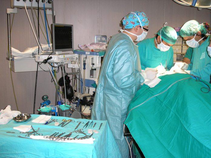 Quirófano en el hospital de Jaén