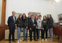 Recepción del alumnado del IES Santa Catalina de Olimpiada Estadistica.