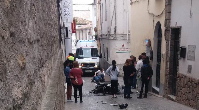 Accidente de circulación ayer en Martos.