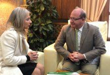 La consejera de Cultura y el alcalde de Jaén en la reunión de esta mañana.