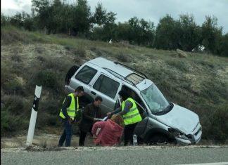 Vehículo accidente ayer en la A-316.