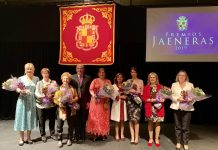 Jaeneras 2019 con el alcalde de Jaén.
