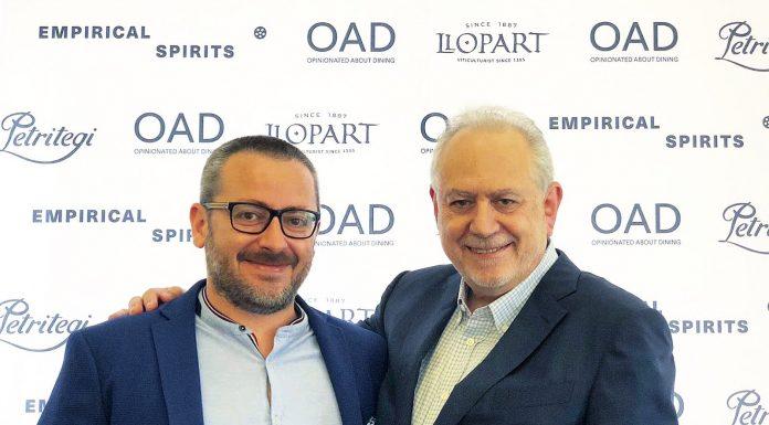 El chef jiennense Pedro Sánchez con el empresario gastronómico Steve Plotnicki.
